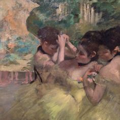 Yellow Dancers, Edgar Dégas. The Art Institute, Chicago.