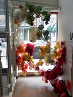 skidmore fiber arts students' installation
