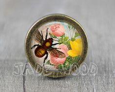 Bee Handmade Vintage Bronze Dresser knobs cabinet by jade4wood
