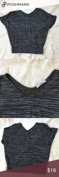Firth dolman style gray blouse Firth brand toon with dray and silver blend. Shorter in length. Excellent condition! firth Tops