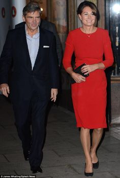 Michael and Carole Middleton arrive for the launch of their daughter Pippa Middleton's first book