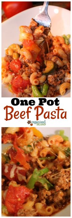 Delicious and quick one pot beef pasta recipe! Your family will love it!