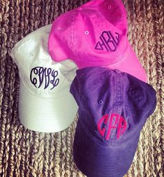 Must do before the fam beach trip! Monogram baseball hat #monogram
