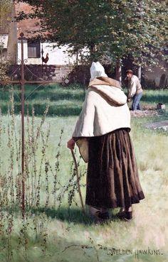 ■ HAWKINS, Louis Welden (French, 1849-1910) - The Last Step. Circa 1882. Oil on canvas 129.5 × 83.8 cm - Owens Art Gallery, Mount Allison University (Sackville, Canada) http://www.mta.ca/owens/index.php ■ Луис Велден ХОУКИНС - В последнем шаге  ■ More information/Подробнее здесь: https://kovalcurator.files.wordpress.com/2015/01/hawkins-spreads.pdf