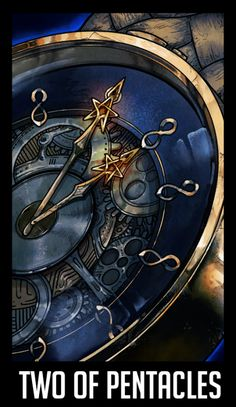 """WTNV Tarot 2 OF PENTACLES - The Watch """"Keeping things in balance. Look past the juggler to the ships out at sea. He is working hard to keep things going until his ship comes in. He may need to spend some time with his partner or his family, to try..."""