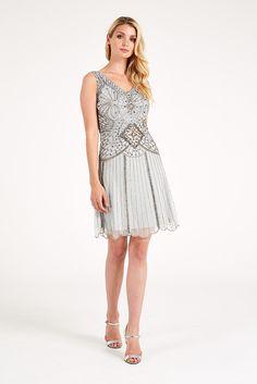 Frock+And+Frill+Embellished+Sequin+V-Neck+Dress