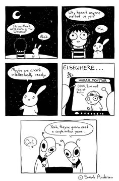 Alone in the Universe, a Sarah's Scribbles comic by Sarah Andersen