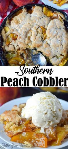 Peach cobbler is a classic summer dessert. Loaded with juicy peaches and a sweet, buttery cake topping. Every bite is pure heaven! This Southern peach cobbler is loaded with sweet juicy peaches and topped with sweet buttery cake. Best Summer Desserts, Easy Summer Meals, Summer Recipes, Easy Pie Recipes, Delicious Dinner Recipes, Southern Recipes, Southern Food, Southern Peach Cobbler, Latest Recipe