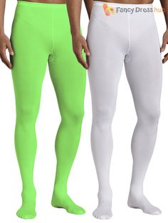Complete your Santa's Helper Costume with these Men's Elf Tights. Includes a pair of tights. Select either Green Tights or White Tights using the dropdown menu. Green Tights, Pink Tights, White Tights, Tights Outfit, Nylons, Pantyhose Outfits, Robin Hood Fancy Dress, How To Wear Timberlands, Mens Leotard