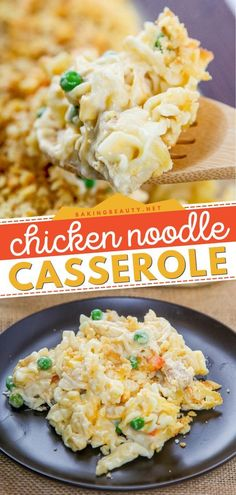 This Chicken Noodle Casserole recipe with ritz crackers comes together in 10 minutes! So creamy and cheesy, this delicious recipe for dinner is like a hug on a plate. Pin this family-friendly chicken… Casserole To Freeze, Casserole Recipes, Chicken Egg Noodle Casserole, Ritz Cracker Recipes, French Fried Onions, Poached Chicken, Low Sodium Chicken Broth, Cream Of Chicken Soup, How To Cook Chicken