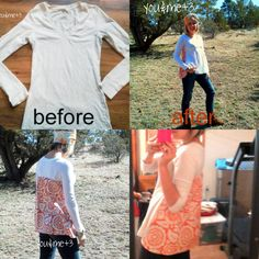 Tshirt redo - save the front and have a loose back on a tight tshirt