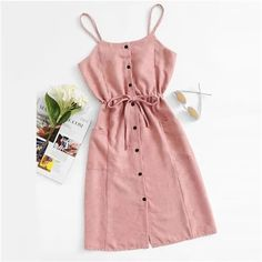 Trendy Summer Outfits, Cute Girl Outfits, Cute Casual Outfits, Stylish Dresses, Pretty Outfits, Stylish Outfits, Cute Dresses, Casual Dresses, Linen Dresses