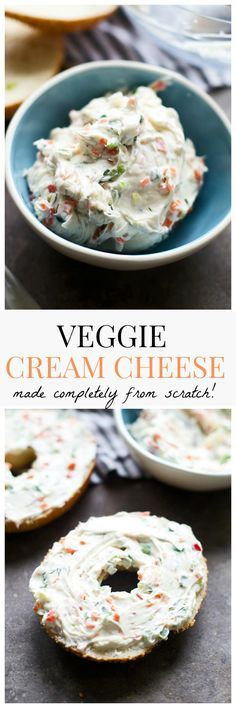 Healthier VEGGIE CREAM CHEESE - Everything from scratch!