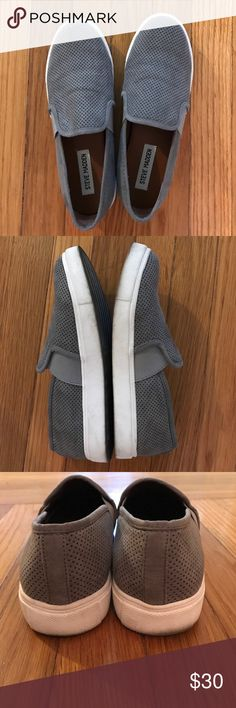 Steve Madden Gray Suede Slip Ons Size 7 Great Used Condition. The Suede is in excellent condition. size 7 - Steve Madden Shoes Flats & Loafers