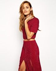 Shop ASOS All Over Sequin Co-Ord Top at ASOS. Co Ord, Saved Items, Must Haves, Asos, Two Piece Skirt Set, Sequins, Skirts, Stuff To Buy, Shopping
