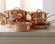 Wishful Thinking..............I love the Mauviel Copper 12-Piece Cookware Set on Williams-Sonoma.com