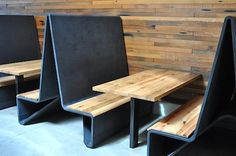 Aidlin Darling′s Bar Agricole Banquettes: Concreteworks Restaurant Booth Seating, Restaurant Design, Restaurant Ideas, Banquette Seating, Bar Seating, Banquettes, Coffee Shop Design, Cafe Design, Interior Architecture