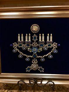 Jewelry Hanukiah by Beth Turchi 2015.