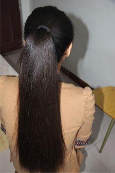 Indian Long Hair Braid, Long Hair Ponytail, Braids For Long Hair, Ponytail Hairstyles, Long Silky Hair, Long Dark Hair, Beautiful Long Hair, Gorgeous Hair, Drawing Wallpaper