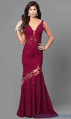 Shop long formal mermaid dresses at Simply Dresses. Nina Canacci designer dresses with v-necklines, trains and sheer-illusion lace details. Designer Evening Dresses, Lace Evening Dresses, Lace Dress, Long Dresses, Evening Gowns, Prom Gowns, Dress Long, Party Dresses, Ball Gowns