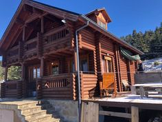 Loghouse rental with great mountain peaks view, on 1.300m altitude, in a fir tree forest!