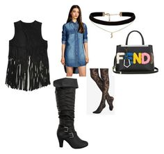 """""""Let's have a little fun this weekend.  gg"""" by mikeshehan on Polyvore featuring BLANKNYC, Express, Fendi and ASOS"""