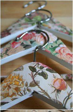 Decoupage coat hangers
