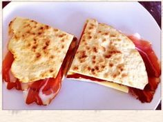 Homemade Italian Flatbread (Piadina) with Cheese-Speck-Lonza Recipes Piadina Recipe, Cheese Bread, Simple Recipes, Easy Meals, Cold, Homemade, Warm, Amazing, Kids