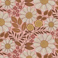Surface Pattern Design, Pattern Art, Tartan Pattern, Motif Floral, Floral Prints, Phone Wallpaper Boho, Pattern Illustration, Floral Illustrations, Retro Art
