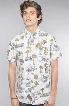 The Death's A Beach Buttondown Shirt in Blue by Altamont