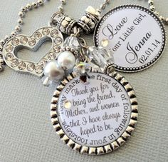 MOTHER of the BRIDE gift PERSONALIZED keychain   by buttonit