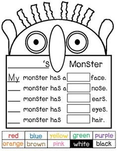 GO AWAY BIG GREEN MONSTER BULLETIN BOARD WRITING ACTIVITY AND TEMPLATE - TeachersPayTeachers.com