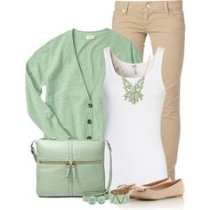 """Mint & Nude"" by immacherry on Polyvore"
