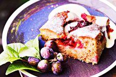 luumupiirakka Plum Pie, French Toast, Goodies, Baking, Fruit, Breakfast, Desserts, Food, September