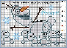 Olaf - Frozen Fever pattern by Dinha Ponto Cruz