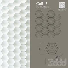 3d модели: Лепнина - 3D Панели Degesso (Cell_3)