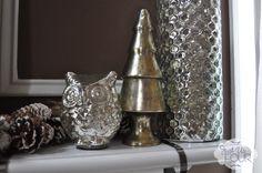 Snowflake and Mercury Glass Christmas Mantel - Just Us Four