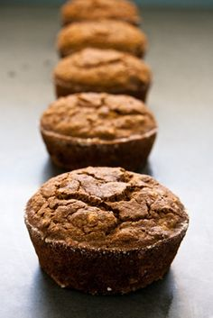Spiced Buckwheat Muffins, vegan and gluten free
