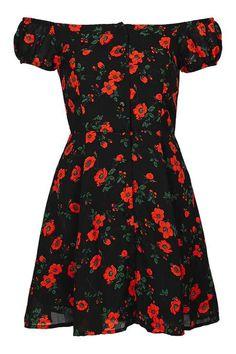 **Bardot Cap-Sleeve Dress by Glamorous Petites - New In- Topshop