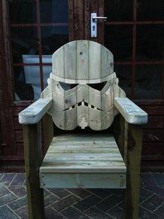 Stormtrooper deck chair. Love it!