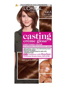 Be decadent and indulge in the Casting Crème Gloss Chocolate Caramel Brown Hair Dye - a temporary, ammonia-free hair colour from L'Oréal Paris. Pink Hair Dye, Dyed Hair Pastel, Hair Color Purple, Hair Dye Colors, Loreal Casting Creme Gloss, Caramel Brown Hair, Hair Color For Fair Skin, Semi Permanent Hair Dye, Temporary Hair Color