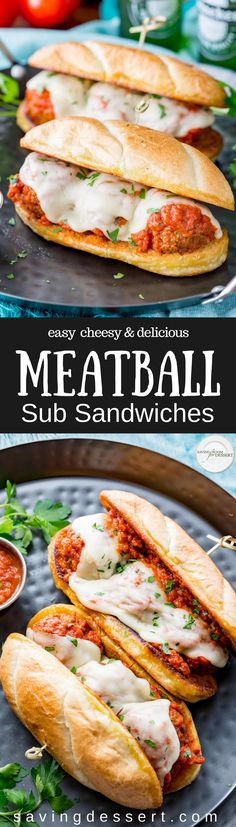 Easy, cheesy and delicious, homemade Meatball Sub Sandwiches are sure to satisfy and so much better than you can get in a fast-food restaurant!