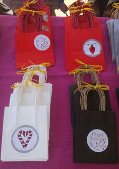 Gift bags for Xmas for sale.  https://m.facebook.com/emilypoppellwellpackaging