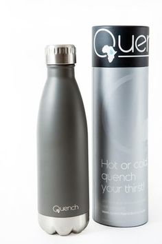 Quench Bottle. Unbreakable double wall stainless steel insulated flask. Keeps Beverage cold for 24H and warm for 18H GoodiesHub.com Beverages, Drinks, Water Bottles, Flask, Stainless Steel, Cold, Warm, Gifts, Stuff To Buy