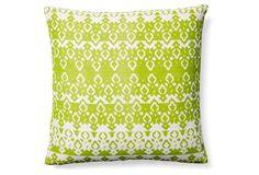 Calabasas 20x20 Jute Pillow, Lime