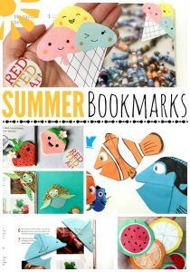 Summer Bookmark Corners - Red Ted Art's Blog