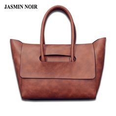 $29.99 (Buy here: https://alitems.com/g/1e8d114494ebda23ff8b16525dc3e8/?i=5&ulp=https%3A%2F%2Fwww.aliexpress.com%2Fitem%2F2016-New-fashion-Women-Leather-Handbag-Tote-bag-messenger-bag-with-cover-bat-wings-brand-designer%2F32638587227.html ) 2016 New fashion Women Leather Handbag Tote bag messenger bag with cover bat wings brand designer brown Europe Big shopping BAG for just $29.99