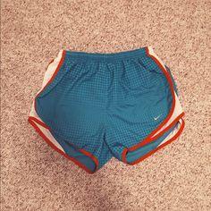 Nike Dri-fit Size small, Nike Dri-Fit short.  Blue, red & white. Good running short, just longer fits me! Nike Shorts