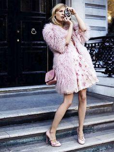 clemence poesy. photographed by david oldham for uk glamour magazine.