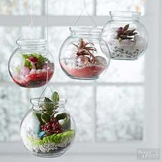 Create incredible terrariums with secondhand scores, adorable miniatures, and whimsical add-ons. Best of all, these clever projects can be made in minutes and easily integrated into your decor.